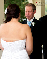 Groom cries during Lake Lure, NC wedding