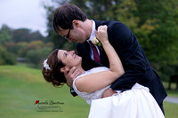 Bride and groom wedding portrait at Starmount Forest Country Club