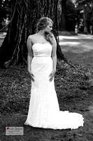 High fashion bridal portrait in black and white