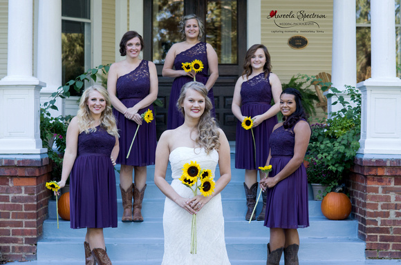 Bridesmaids portrait at Monroe, NC wedding