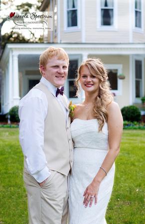 Bride and groom portrait in Monroe, NC.