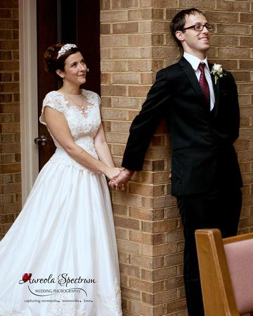Bride and Groom First Look in Greensboro, NC wedding