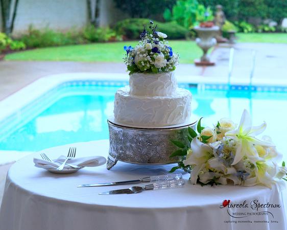 Wedding cake at mountain wedding nc