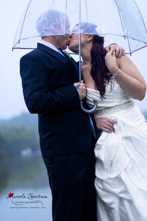 Bride & Groom wedding portrait lake lure, nc