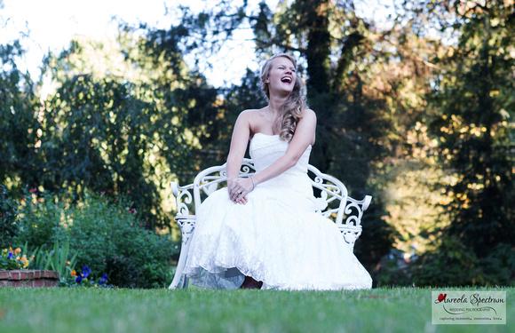 Happy Bride laughs in Monroe, NC