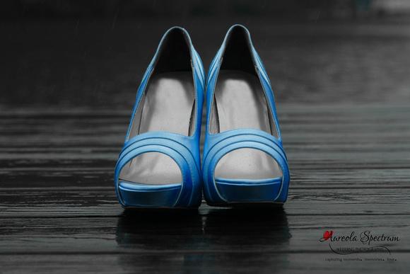blue bridal heels lake lure wedding