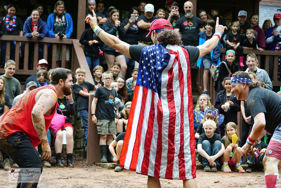 Camp director counts down mud wrestling camp luck 2016.