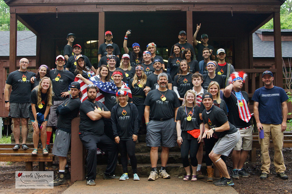 Staff and volunteers for Camp Luck family camp 2016