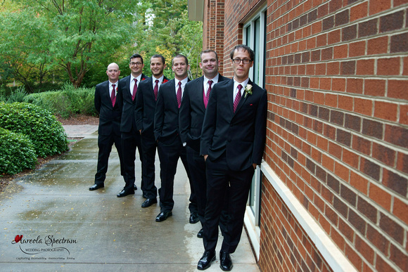 Groom with his groomsmen in Greensboro, NC