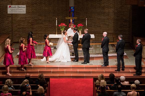 Church wedding ceremony in Greensboro, NC