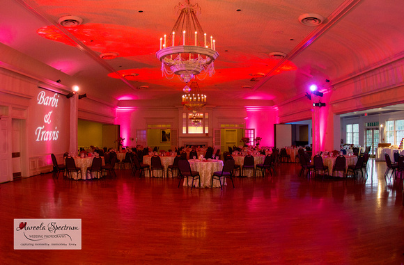 Reception hall at the Starmount Forest Country Club in Greensboro, NC