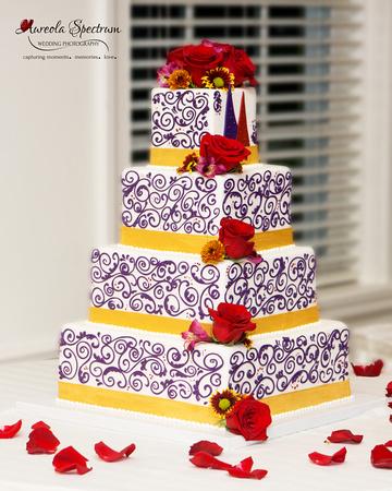 Designer wedding cake in Greensboro, NC