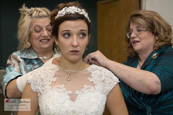 Bride wedding preparation in Greensboro, NC