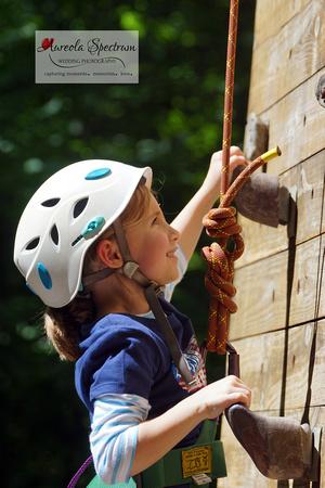 Rock climbing at camp luck 2016
