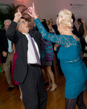 Guests groove at a Starmount Forest Country Club wedding reception.