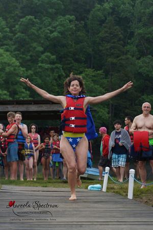 Superwoman camper at Camp Luck 2016.