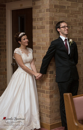 Bride and groom first look Greensboro, NC