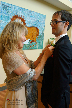 Groom and mom in Greensboro, NC