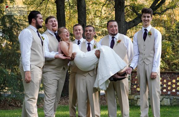 Groomsmen pick up bride at Monroe, NC wedding.