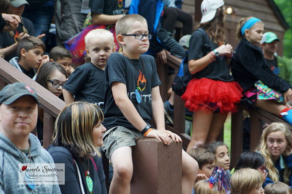 Heart kid at Camp Luck family camp 2016