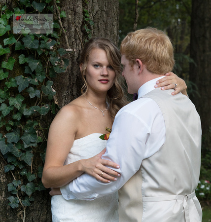 High fashion portrait of bride and groom in Monroe, NC